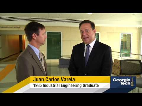 President of Panama (and a GT Grad) Visits Campus