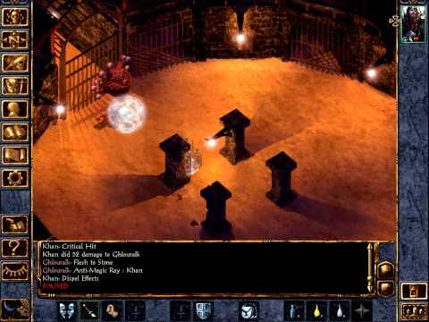 Baldur's Gate Enhanced Edition Black Pits - Solo Fighter Final Fight |