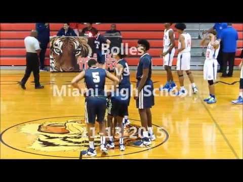 """7' 1"""" Zac Brown (UConn) vs 6' 10"""" Colin Smith (GW) Bolles School vs Miami High 2015-16"""