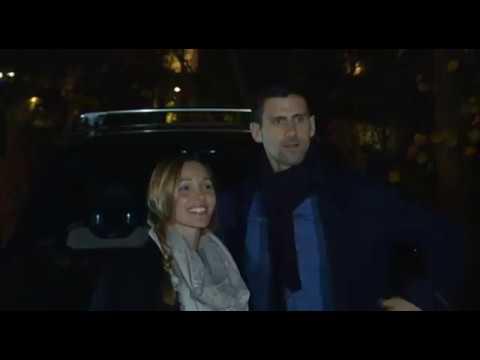 EKSKLUZIVno: Jelena i Novak Đoković uspavali decu pa došli na  krsnu slavu - 22.11.2017.