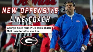 BREAKING: Matt Luke Hired as Offensive Line Coach at UGA | Other Assistant Coach Changes Coming?