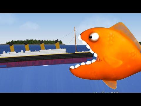 ЗОЛОТАЯ РЫБКА съела всех в океане игра Tasty Blue прикольная игра для детей