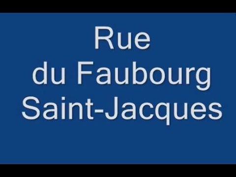 Rue du Faubourg Saint Jacques Paris Arrondissement 14e