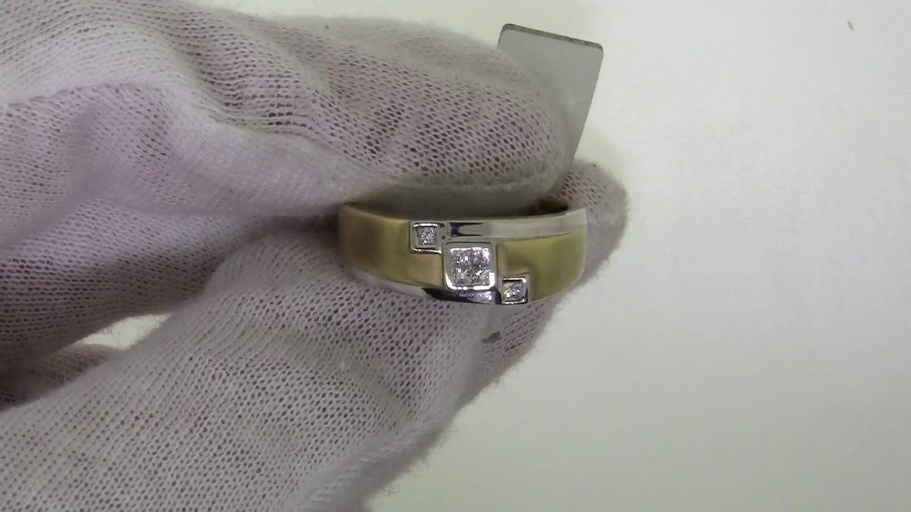 wedding band men mens in or products pinky with gold yellow vintage diamond s ring carat lemans