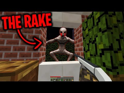 The Rake keeps visiting our Minecraft Base at Night.... (Scary Minecraft Video)