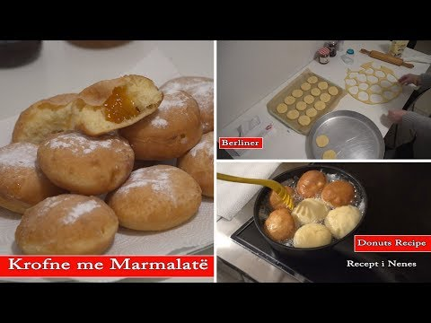 "Krofne Receta Orginal Berliner ""Donuts Recipe"""