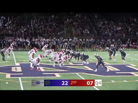 NDSN - Varsity Football Notre Dame v. Paraclete HIgh School