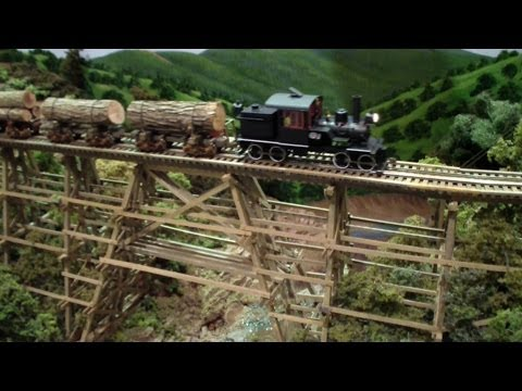 Yosemite Short Line ~ On30 Scale Train Layout ~ Bachmann Heisler ~ O/S West 2014