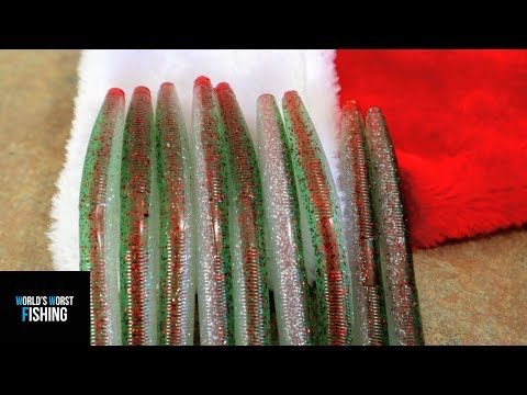 CHRISTMAS CORE SHOTS, Making Core Shot Stick Worms In Christmas Colors