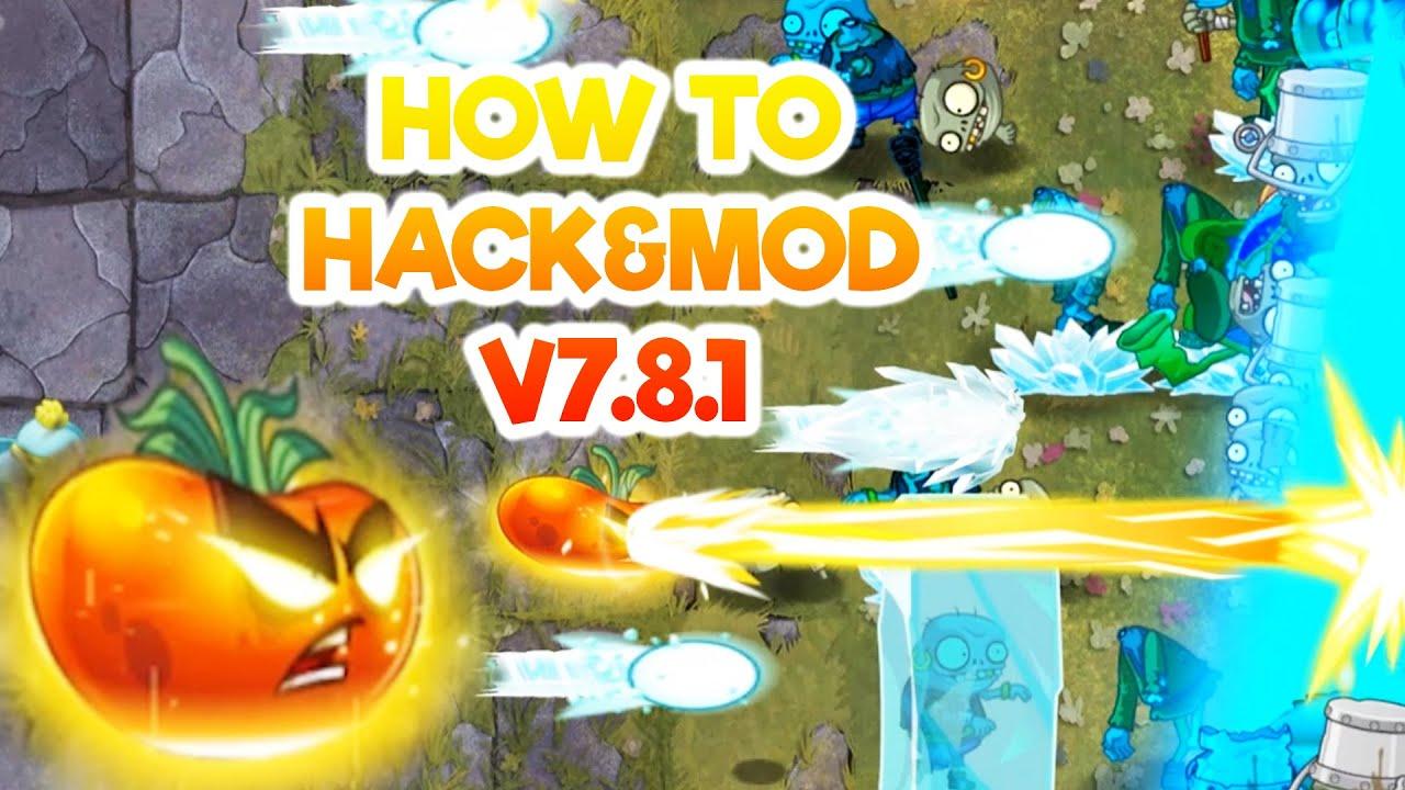 HƯỚNG DẪN MOD&HACK UNLOCK MAXLEVEL + MASTERY ALL PLANTS VS ZOMBIES 2 V7.8.1 MONSTERZ