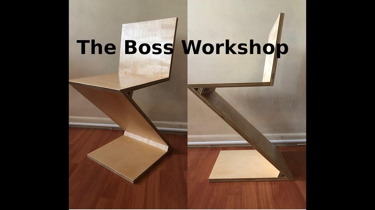 Making A Zig Zag Chair   Modern DIY
