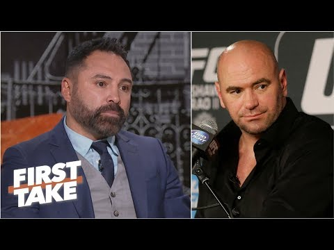 Oscar De La Hoya accuses Dana White of not taking care of fighters | First Take