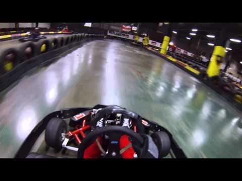 Go-karting at Eddie Irvine's