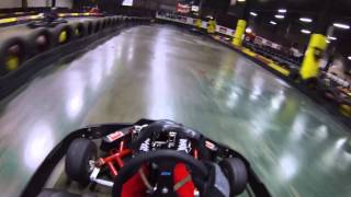 Go-karting at Eddie Irvine