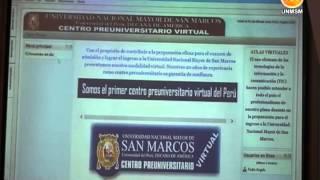 UNMSM PRESENTÓ EL PRIMER CENTRO PRE UNIVERSITARIO VIRTUAL DEL PERÚ