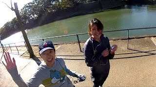 Biking completely around the Imperial Palace (Emperors Residence) in Tokyo Japan