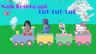 Lagu anak naik kereta api tut tut tut | naik kereta api | lagu kereta api dengan lirik no copyright