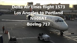 **TRIP REPORT** Delta Air Lines 1573 | 717 | N966AT | PDX-LAX