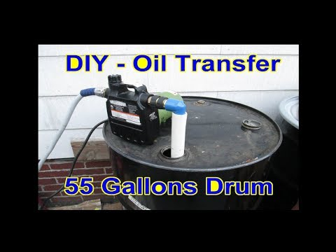 DIY - Oil Transfer Pump Quick Connect with Garden Hose on 55 Gallon Tanks
