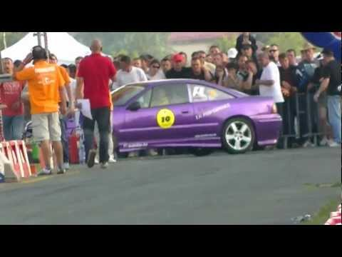 Opel Calibra Turbo vs Opel kadett V8 - Gorica 2012 -