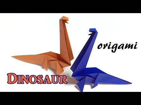 origami dinosaur easy but cool  | How to make a paper dinosaur | origami  tutorial