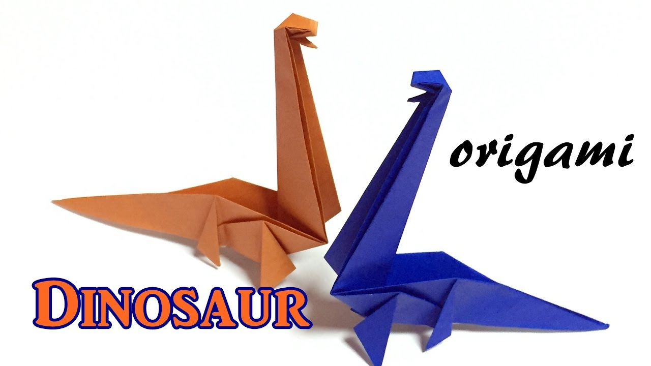 Origami Dinosaur - How to make an easy origami disnosaur - YouTube | 720x1280