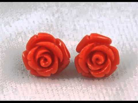Coral Earrings | Vintage Coral Jewelry Set