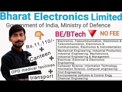 BEL recruitment 2019 | APPRENTICE TRAINING | BE/BTECH | WALK IN SELECTION