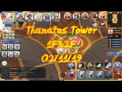 Ragnarok Online Mobile :FIRST TIME THANATOS TOWER 1F& 2F (SEA SERVER)