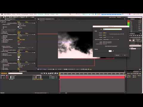 Tutoriel Adobe Affter-Effects nuages qui bougent