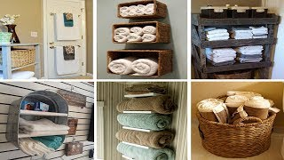 34 Towel Storage for Bathroom Ideas