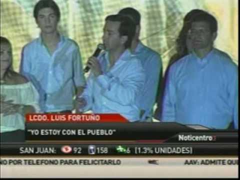 Luis Fortuño anuncia victoria gobernacion (parte 1)