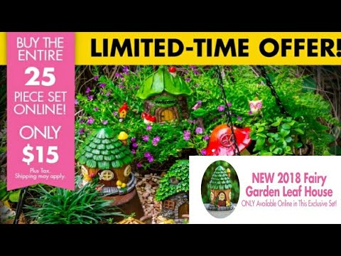 EXCLUSIVE FAIRY GARDEN SET DOLLAR TREE 2018