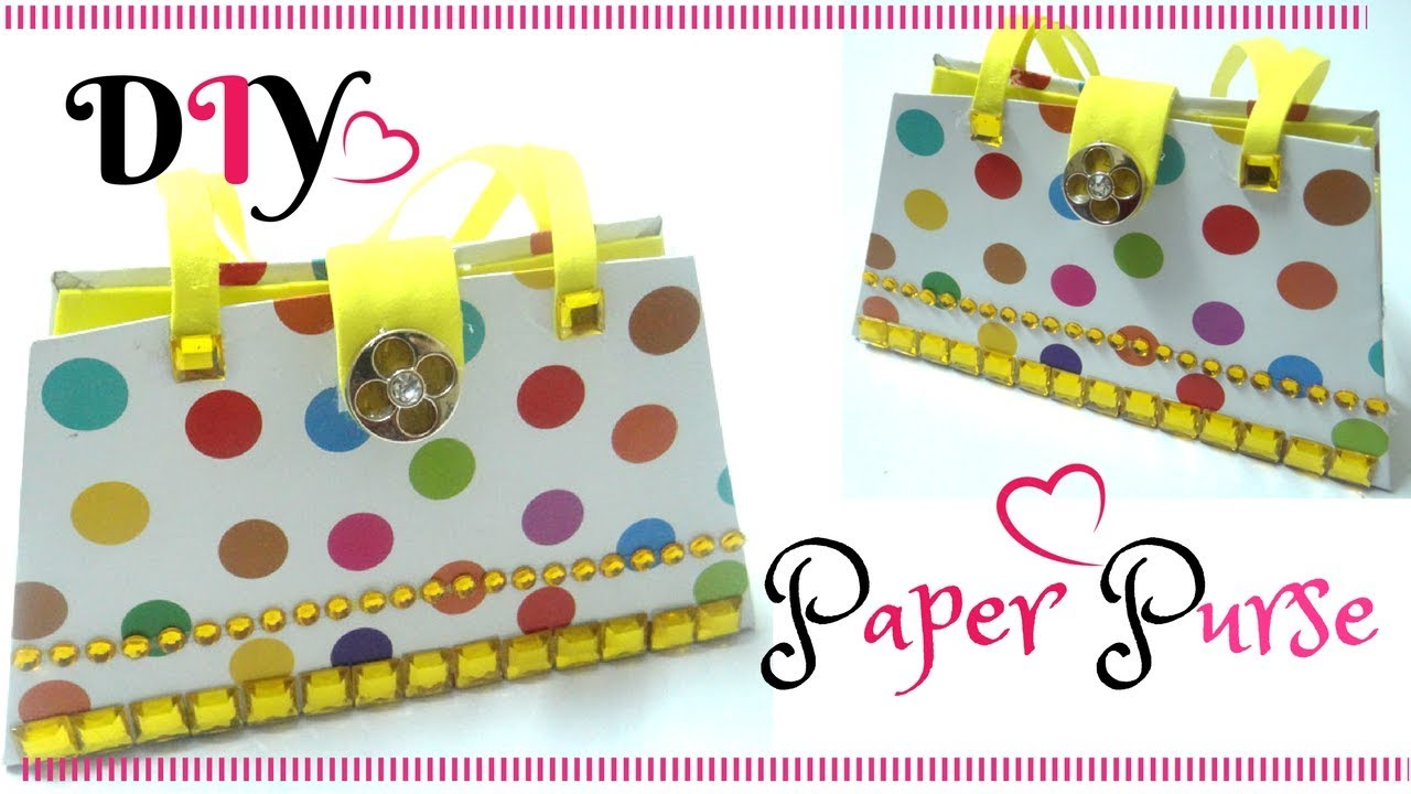 Diy Crafts Easy Paper Purse Bag For Kids Paper Craft Ideas For