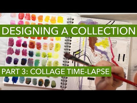 Watch Me Design A Fashion Collection 3: Collage Time-Lapse