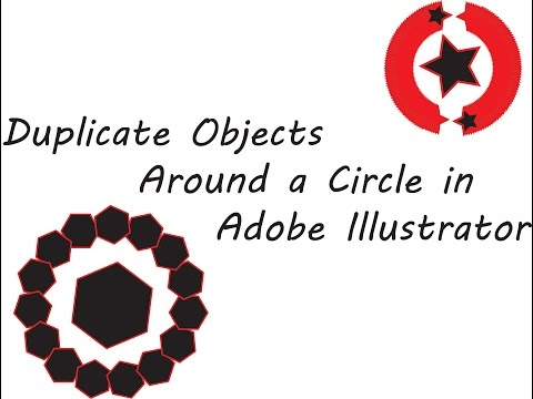 How To | Duplicate Objects Around A Circle Copy ( Illustrator Tutorial )