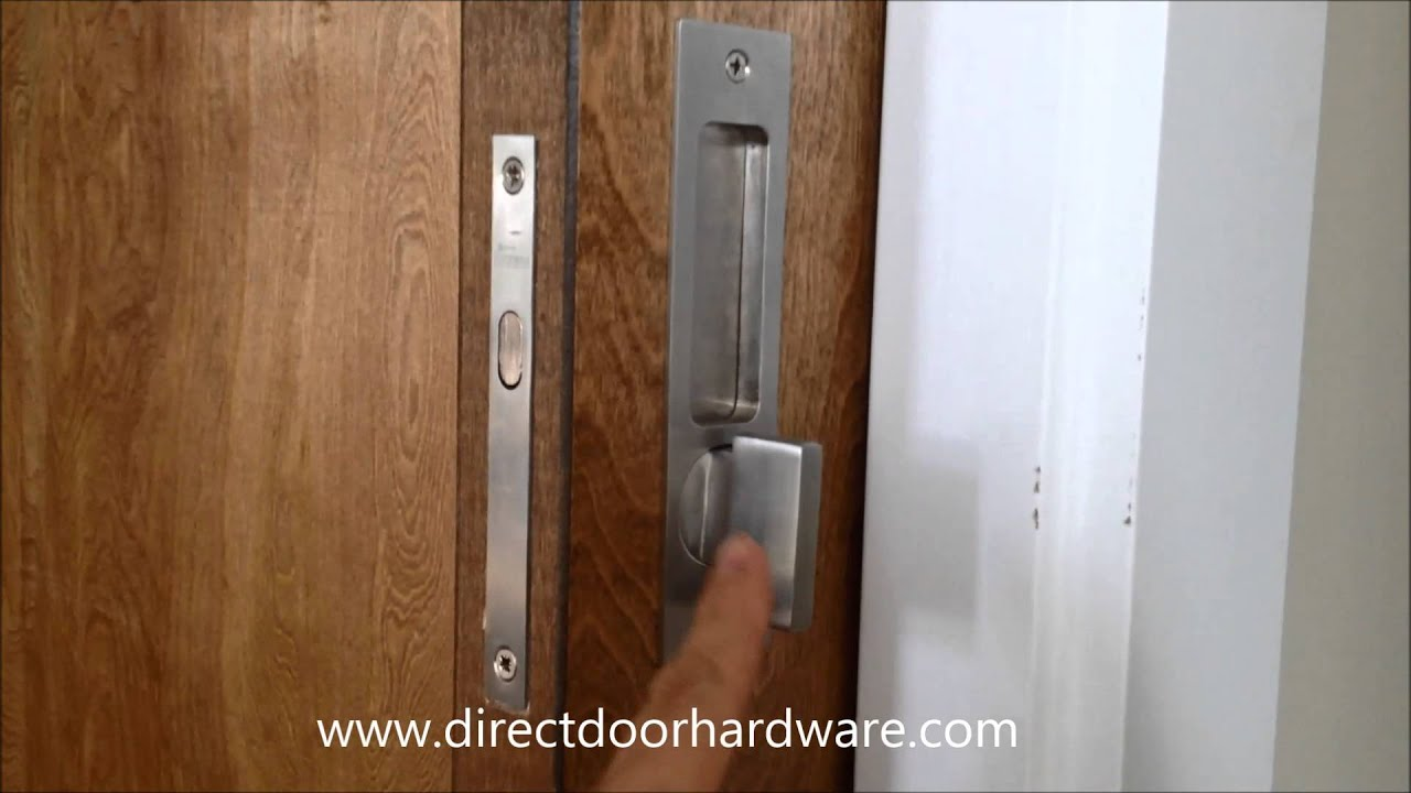 Linnea Pl 160 Privacy Pocket Door Lock With Ada Turnpiece Youtube