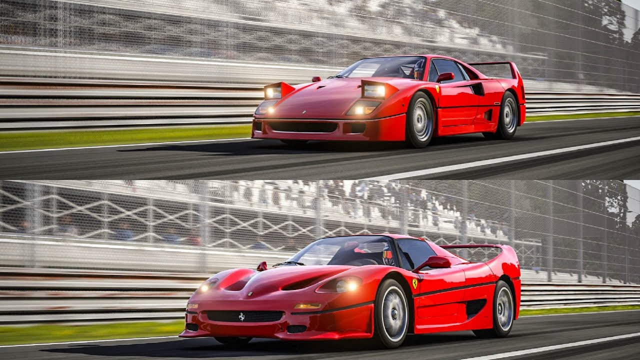 Ferrari F40 Vs Ferrari F50 Top Gear Track Battle Youtube