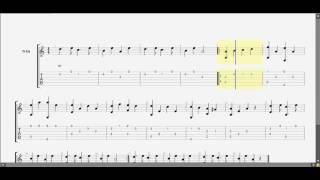Chúc tết guitar solo tab by D U Y