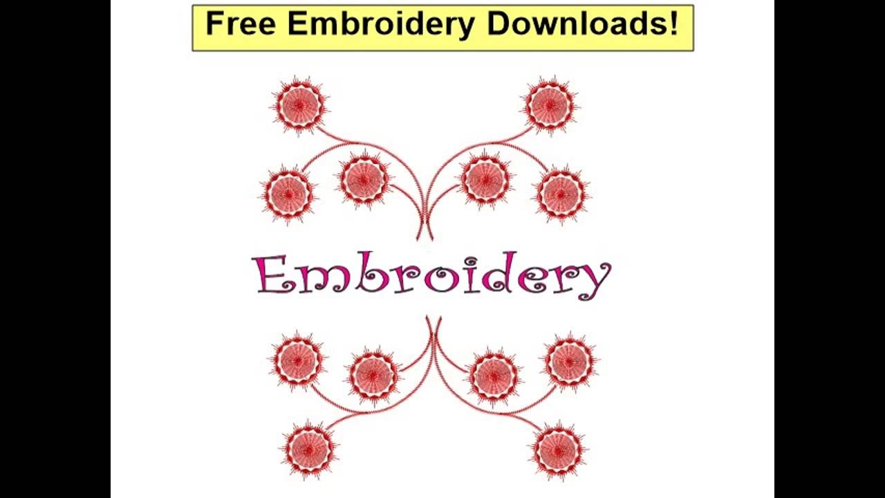 Free Embroidery Downloads Free Embroidery Fonts Youtube