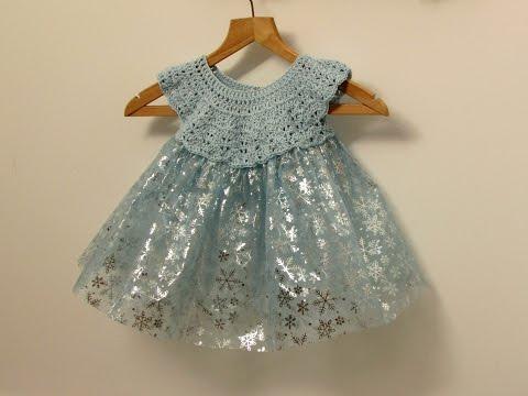 How to crochet a little girl's fairy / princess / tutu dress