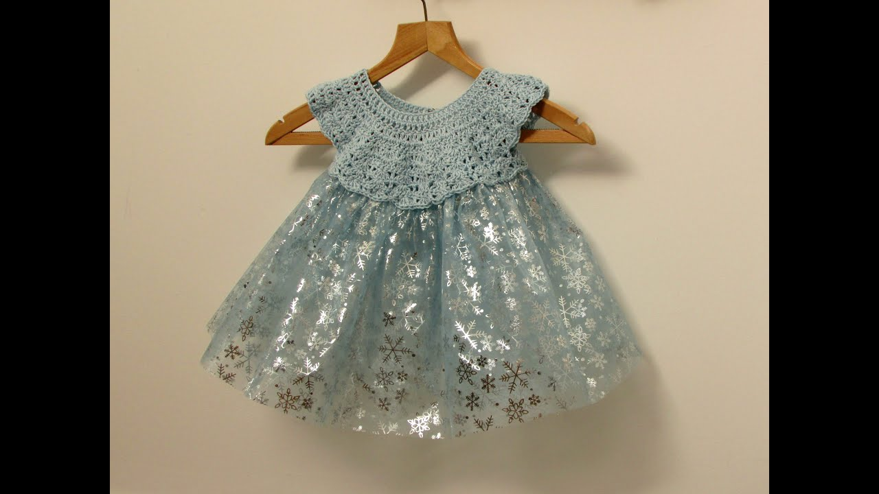 How to crochet a little girl s fairy princess tutu dress