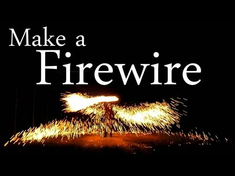 How to Make a Fire Wire [Easy Steel Wool Fireworks]