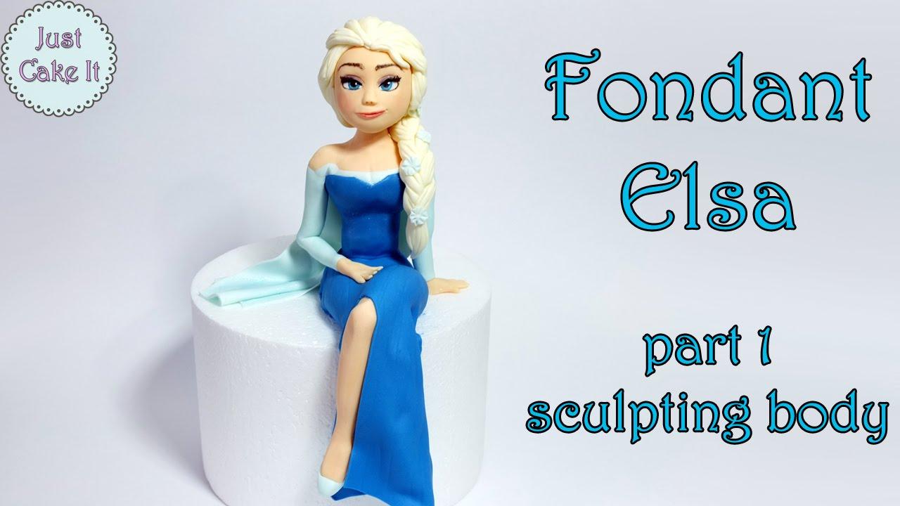 How To Make Fondant Elsa Cake Topper Part 1 Body Jak Zrobić Figurkę Elsy Część Ciało