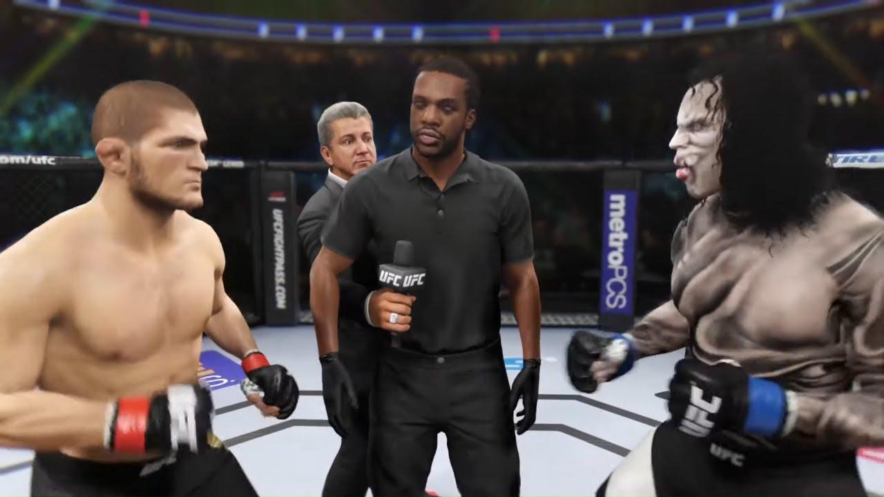 Khabib vs. Crazy Lucifer - EA Sports UFC 2 - Champion Fight