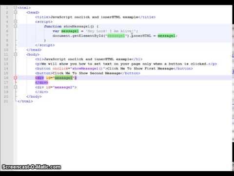 JavaScript Onclick And InnerHTML Tutorial
