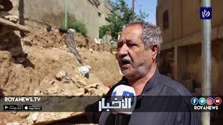 سكان منطقة القصر يطالبون بإعادة تأهيل جدار استنادي تسببت الأمطار في انهياره - (3-5-2018)