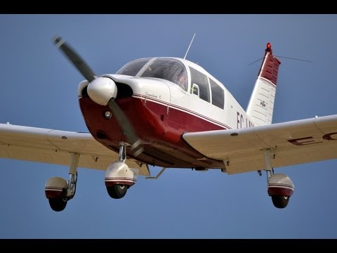 HD General Aviation aircraft landings & low pass footage.