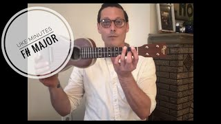 uke minutes 43: f# major and smash mouth-s allstar for ukulele (free tabs)