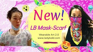 The NEW LB Mask-Scarf: Your answer to actually LOVING wearing a mask!